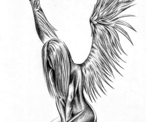 angel, drawing, and fun image