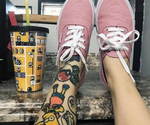girl, tattoo, and vans image