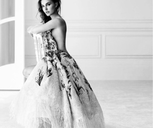black & white, brunette, and dior image