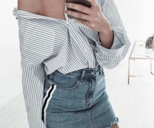 clothes, off the shoulder, and phone image