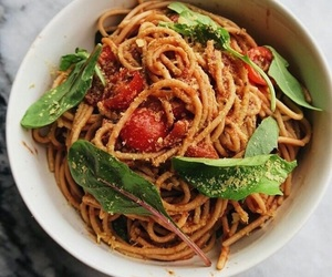 healthy, pasta, and vegan image