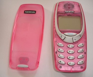 pink, nokia, and phone image