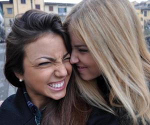 blonde and brunette image
