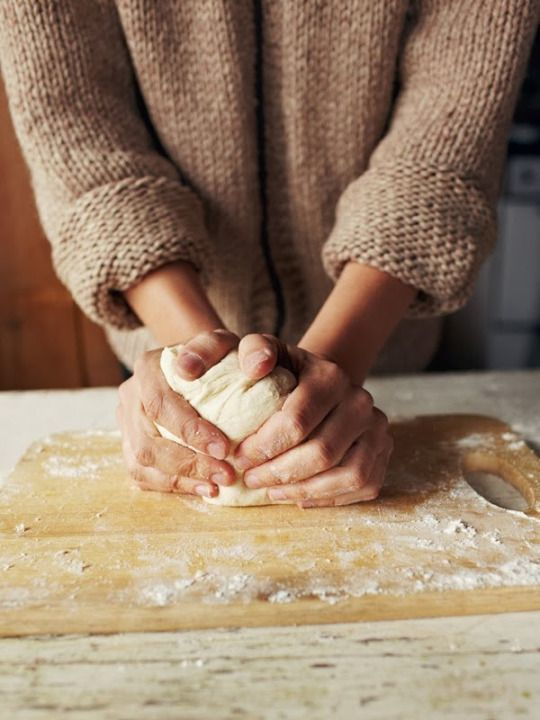baking, dough, and hands image