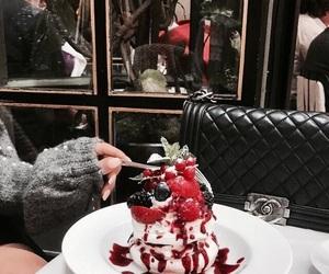 food, girl, and dessert image