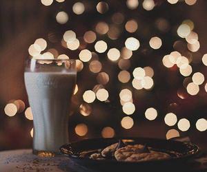 christmas, milk, and light image