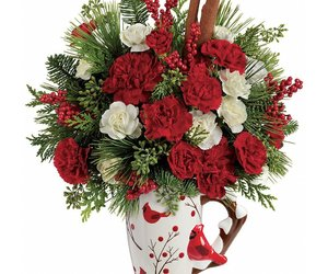 christmas flowers and christmas bouquets image