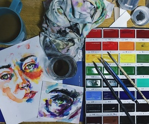 art, colourful, and drawing image