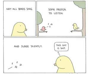 birds, funny, and judging image