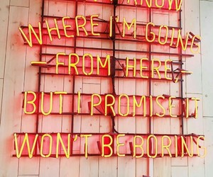 david bowie, quotes, and neon image