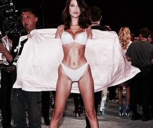 model, bella hadid, and victorias secret image