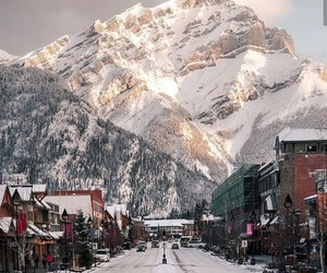 winter, travel, and mountains image
