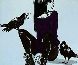 raven, teen titans, and art image