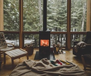 bedroom, forest, and Houses image