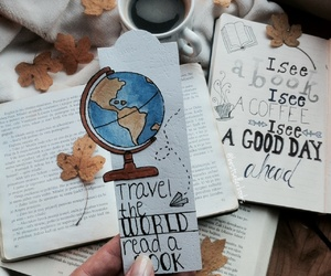 bookmarks, diy, and leavs image