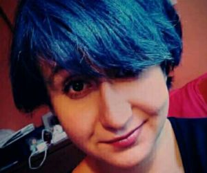 blue hair, dyed, and me image