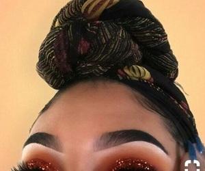 eyebrow, glitter, and makeup image