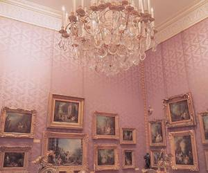 pink, chandelier, and decor image