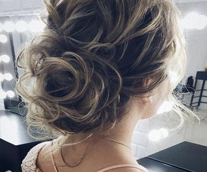 blonde, hairstyle, and beauty image