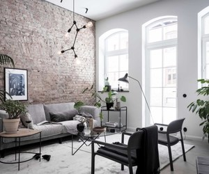 home, black and white, and decor image
