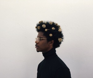 boy, flowers, and melanin image