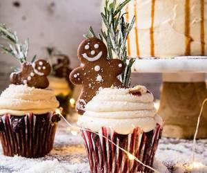 christmas, cupcake, and holiday image