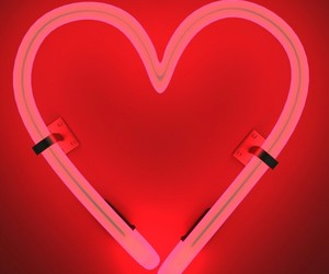 glow, glowing, and heart image