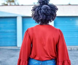 black women, natural hair, and afro hair image