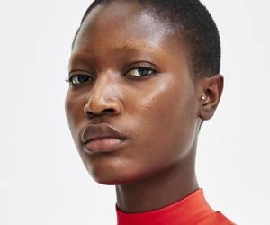 bald, beauty, and black women image