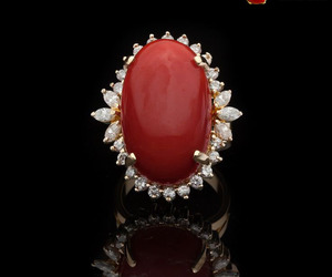 coral stone, red coral gemstone, and moonga image