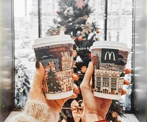 christmas, holidays, and coffee image