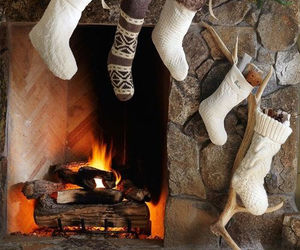 christmas, fireplace, and holidays image