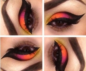 bright, neon, and makeup looks image