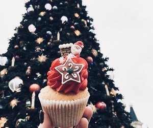 christmas, cupcake, and holidays image