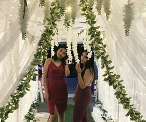 burgundy, red, and wedding image