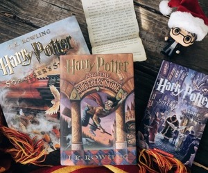 book, harry potter, and christmas image