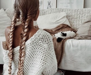 aesthetic, braids, and bed image