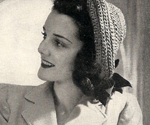 cap, pompadour, and crochet image