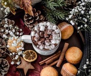 christmas, coffee, and chocolate image