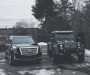 black, mercedes, and cadillac image