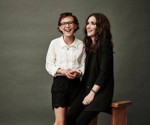 winona ryder, stranger things, and millie bobby brown image
