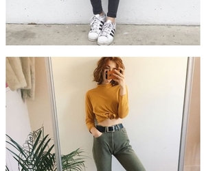 casual, outfit, and yellow image