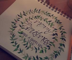art, calligraphy, and christmas image