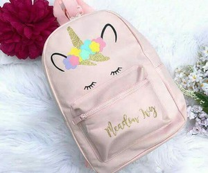 backpack, stuffs, and girls image