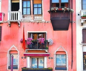 venice, italy, and pink image