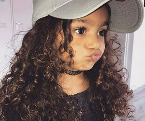 girl, baby, and curly image