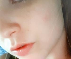 eye liner, heart, and make up image