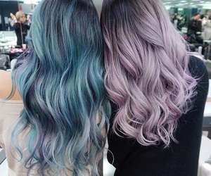 hair, blue, and friends image