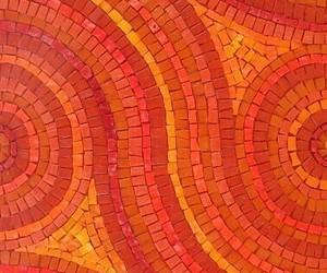 mosaic, background, and orange image