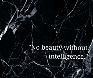 beauty, black and white, and intelligence image